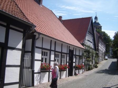 """Well preserved medieval houses in Tecklenburg Germany"""