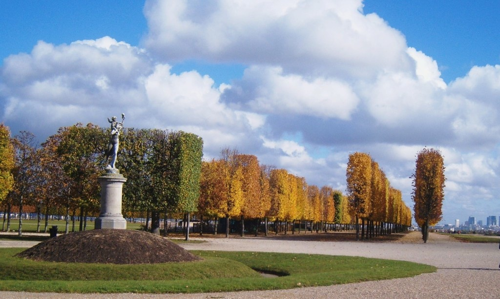 """Tree soldiers in the gardens of St Germain en Laye in Paris"""