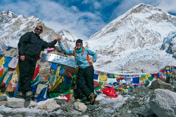 """DavenDeb at Base camp everest trek"""