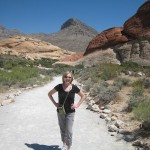 cathy on trail - beginning
