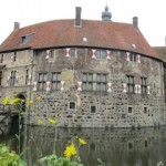 """Moated castle Burg vischering in Muensterland Germany"""