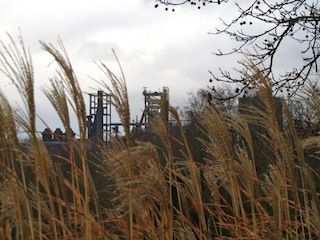 """An old factory seen from the Westfalenpark in Dortmund"""