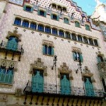 """An over decorated facade of a building in Barcelona"""