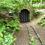 """An old coal mine along the Muttental hiking trail in Germany"""