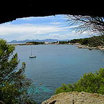 """A bay along the Cap d'Antibes easy hiking trail in the French Riviera"""