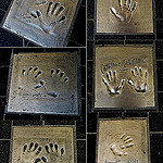 """Famous stars' hand prints on the pavements of Cannes"""