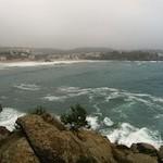 """Beach of La Fosca from a Cami de Ronda trail"""