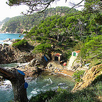 """A cove by the beach along the Cami de Ronda in the Costa Brava"""