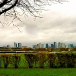 """view of La Defense from hiking trail"""