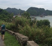 """A+hiker+in+Viet+Nam+Beo+Harbour+by+Michael+Voelker"""