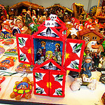 """mini nativity sets in Feria del Belen in Sevilla"""