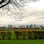 """La Defense of Paris seen from an easy hiking trail"""