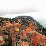 """Roquebrune seen from the hilltop"""