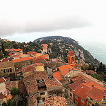 """Roquebrune seen from the hilltop"""