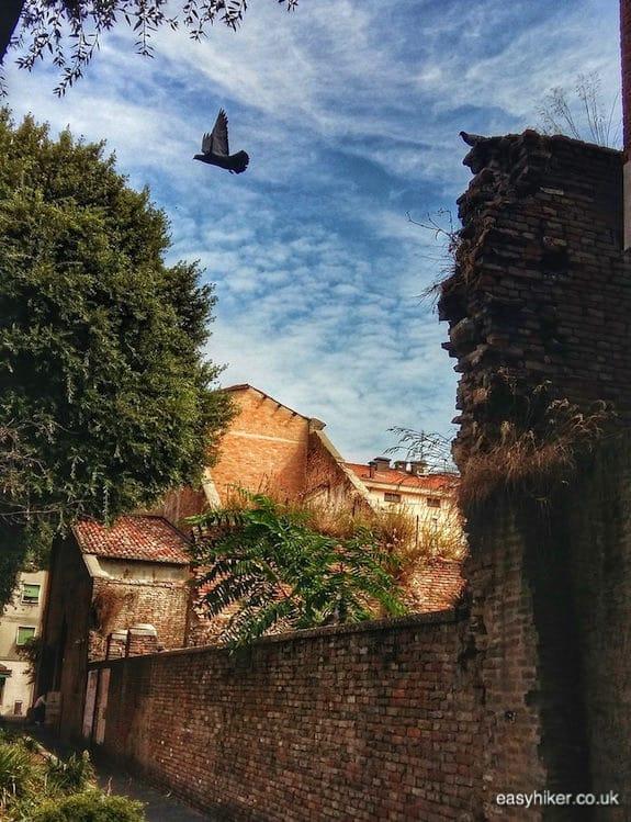 """Surviving Roman walls - Rimini of Fellini"""