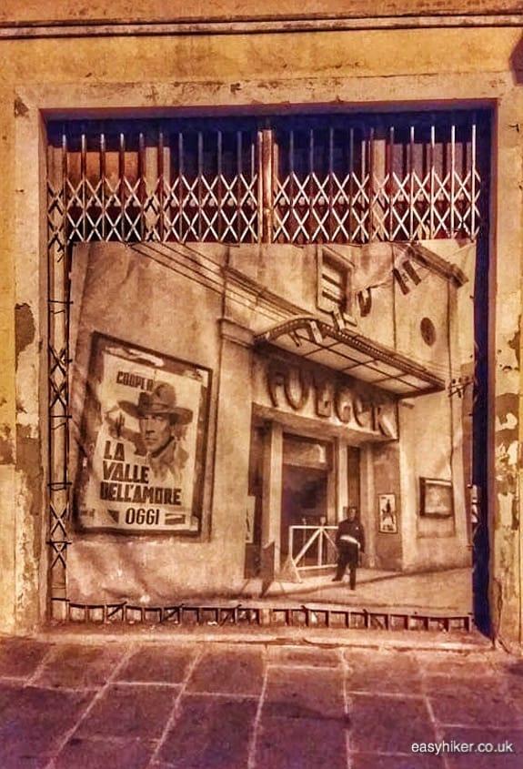 """old cinema poster of Fulgor theatre - Rimini of Fellini"""