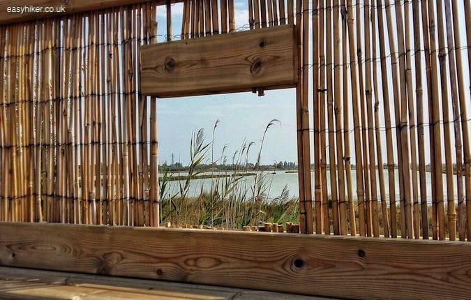 """birdwatching windows in the Valli di Comacchio"""