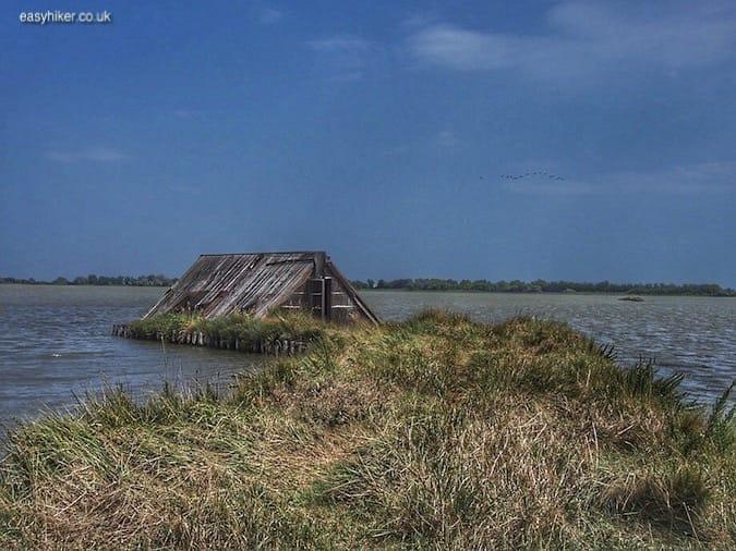 """""""hut in the marshland of the Valli di Comacchio"""""""