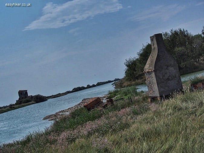 """remnants of housing in the Valli di Comacchio"""