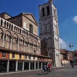 A Walk in Ferrara During a Car Journey Through Emilia Romagna