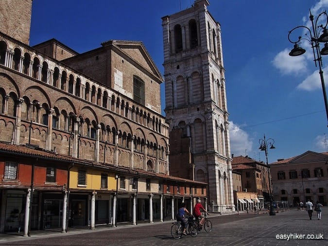 """Ferrara town center - journey through Emilia Romagna"""