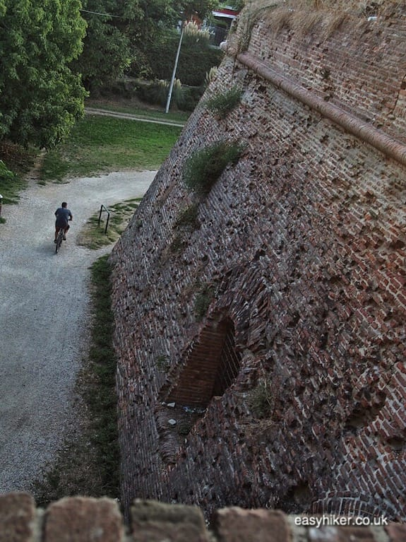 """part of the old walls of Ferrara - journey through Emilia Romagna"""