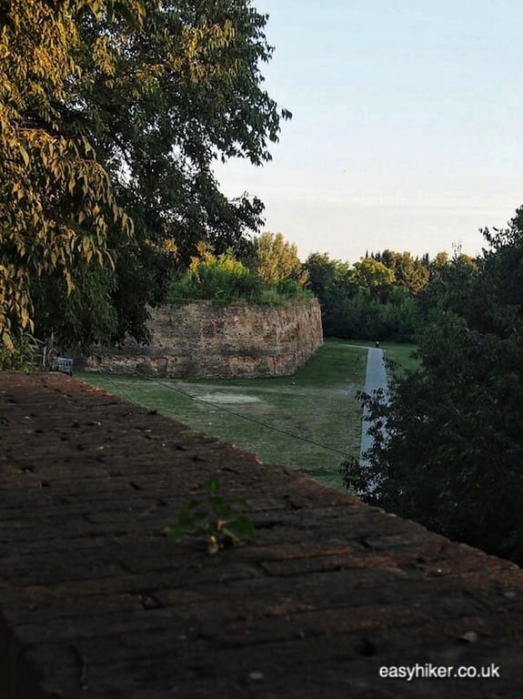 """walk along old walls of Ferrara - journey through Emilia Romagna"""
