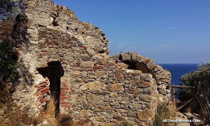 """ruins of Santa Margherita in a Wondrous Easy Hike in Noli Italy"""