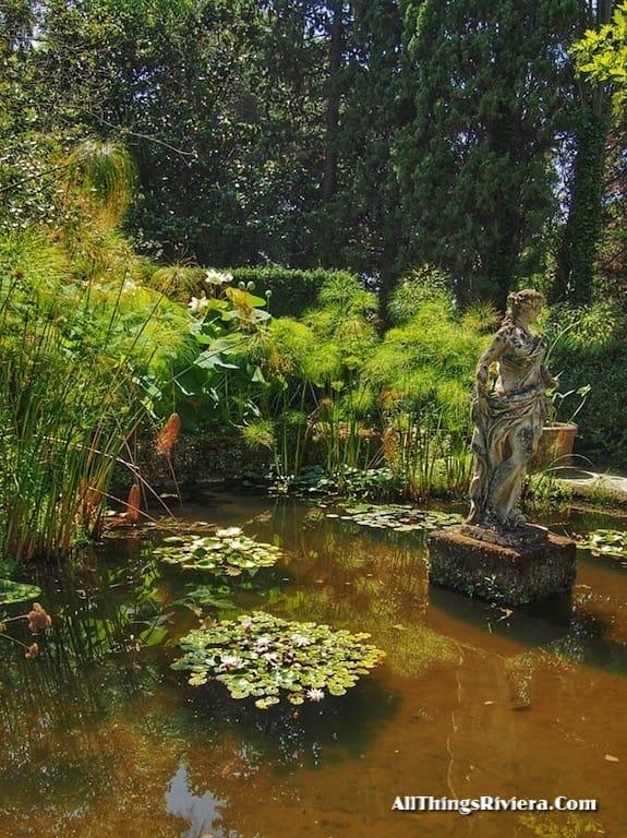 """""""pond in the Serre de La Madone Garden"""""""