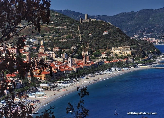 """view of the town on a Wondrous Easy Hike in Noli Italy"""