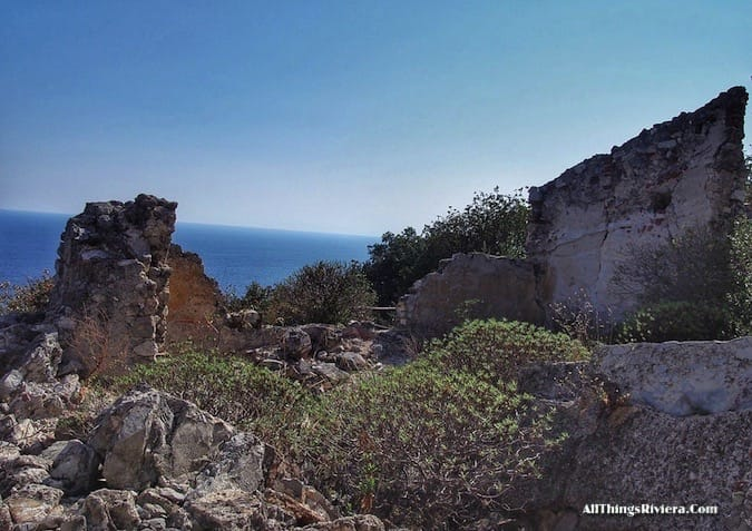 """ruins and the sea in a Wondrous Easy Hike in Noli Italy"""