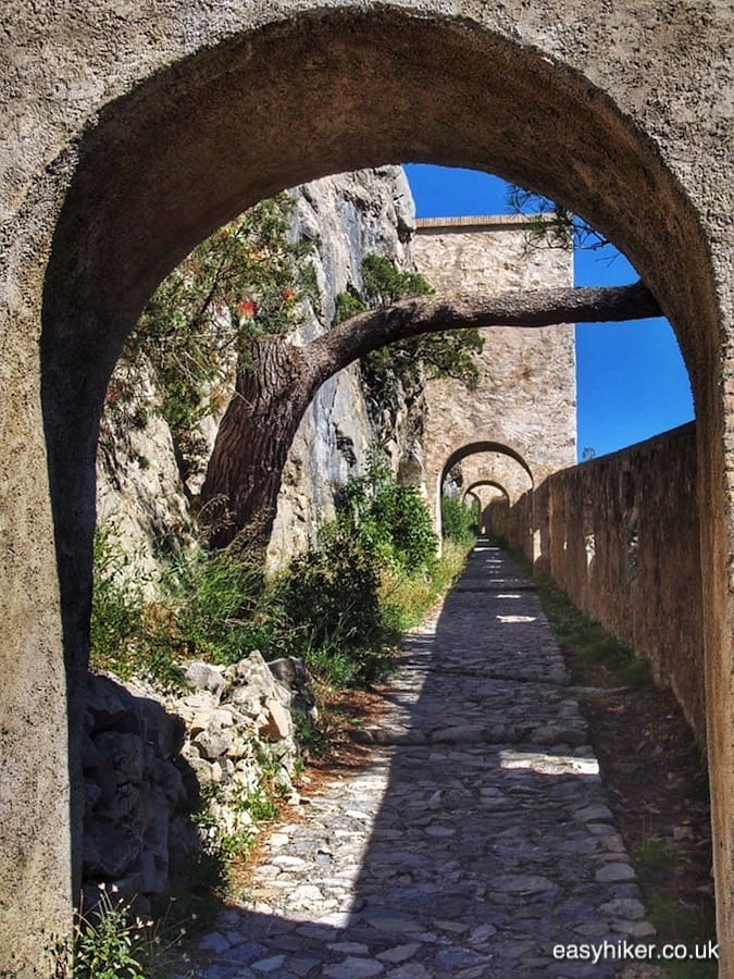 """way up the Citadelle in Entrevaux"""