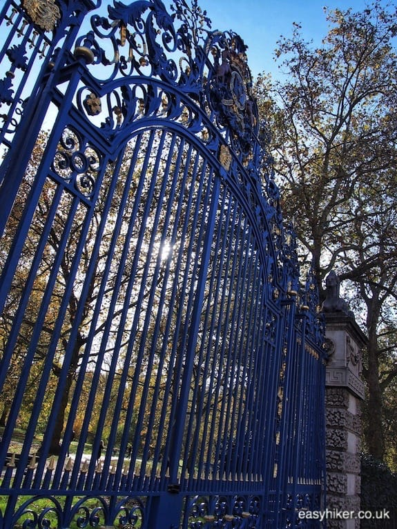 """Gate of Green Park - Cambridge Five in London"""