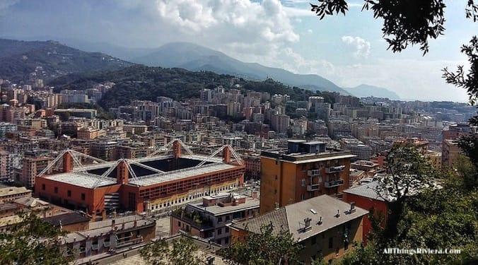 """""""Football stadium of Genova - Genoa is like Audrey Hepburn"""""""