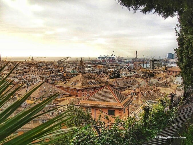 """view from a high place of the harbour in Genova - Genoa is like Audrey Hepburn"""
