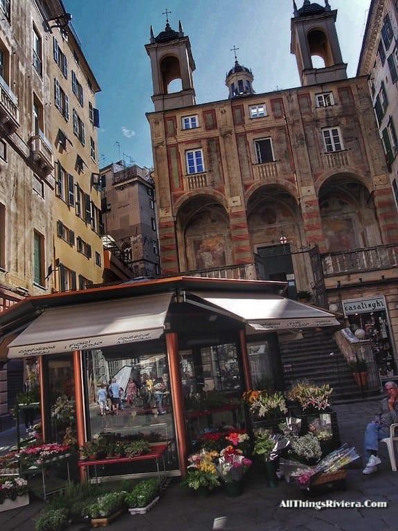 """flower shop in Genova - Genoa is like Audrey Hepburn"""