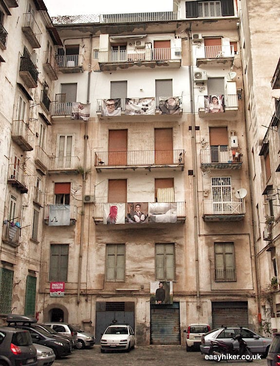 """""""residential building courtyard in Naples on a short Winter Holiday"""""""