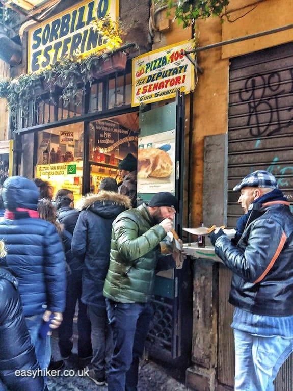 """enjoying street food in Naples on a short Winter Holiday"""