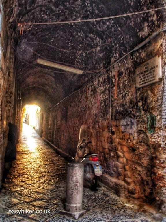 """""""a dark lonely street in Naples on a short Winter Holiday"""""""