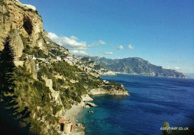 """view from the bus to get the best out of the Amalfi coast in a day"""