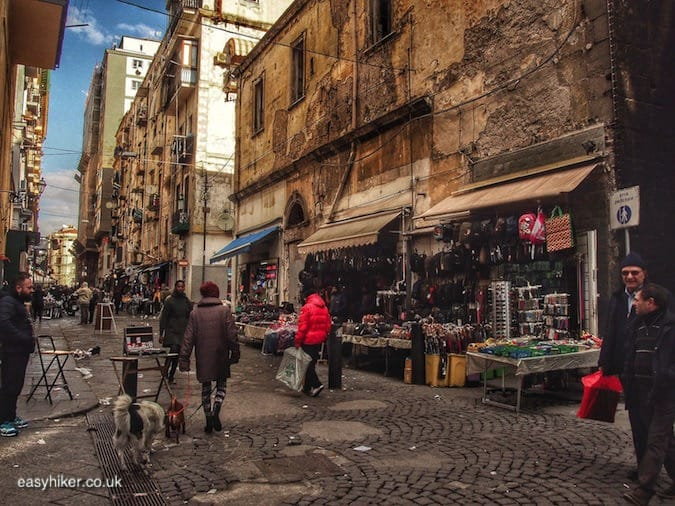"""market street in Naples from a Short Winter Holiday"""