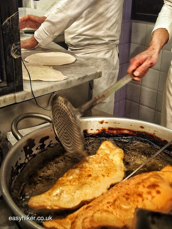 """some deep fried pizza in the making on a short Winter Holiday"""