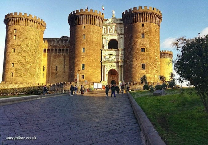 """Castel Nuovo of Naples on a short Winter Holiday"""