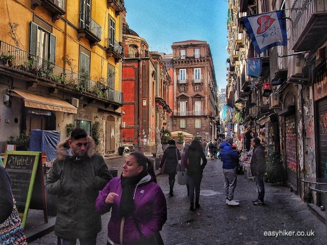 """""""lively street in Naples on a short Winter Holiday"""""""