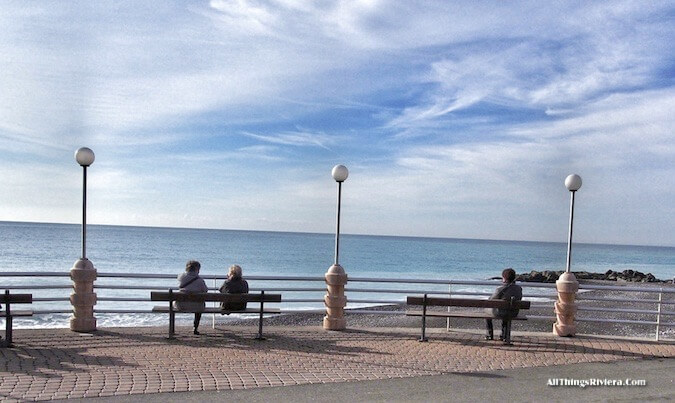 """walk along the lungomare before Hiking the Steep Bordighera Hills"""