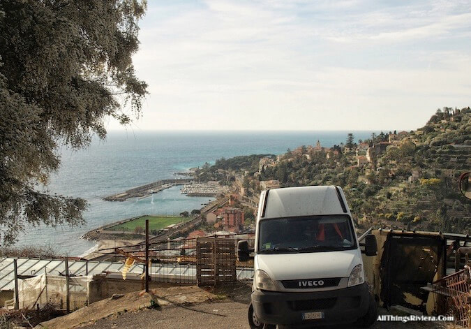 """photobombed views when Hiking the Steep Bordighera Hills"""