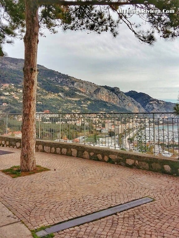 """""""informative signs along Menton - part of a scenic walk from France to Italy"""""""