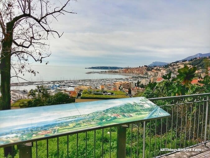 """""""information panels along Menton - part of a scenic walk from France to Italy"""""""