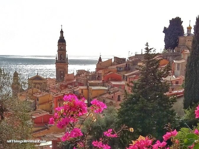 """""""postcard views of Menton - part of a scenic walk from France to Italy"""""""