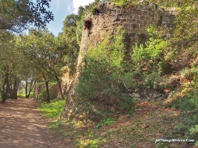 """Where does the Riviera start? Old Roman walls"""